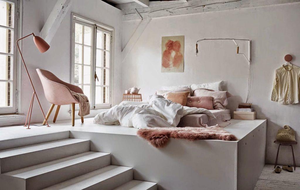 Jak Urządzić Sypialnię Z Różowymi I I Miedzianymi Dodatkami