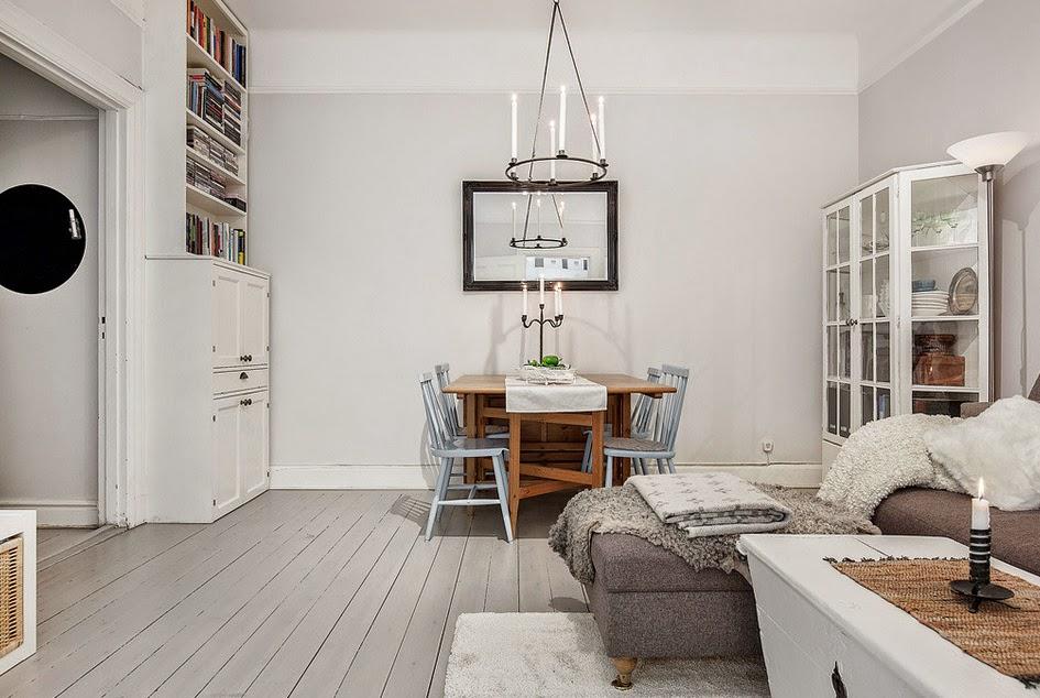 Jak urządzić mieszkanie w stylu retro? -> Kuchnia Jadalnia Salon Razem