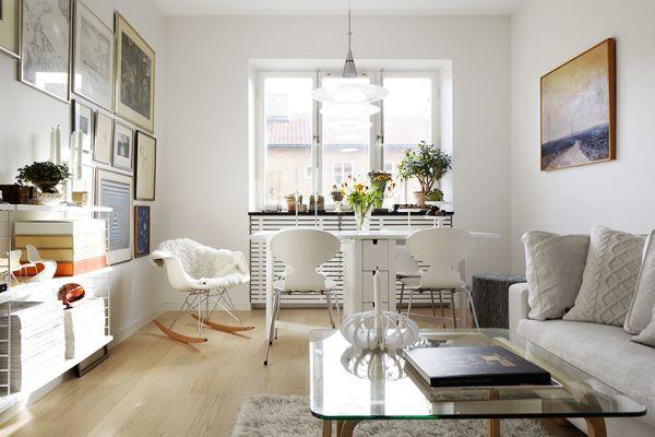 Ma e cztery k ty wn trza nowoczesne pomys y na aran acje - Decorar casa estilo nordico ...