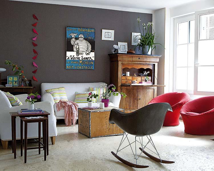 Jak urz dzi salon w kolorach bia ym szarym i czerwonym for Decoracion de interiores color rojo