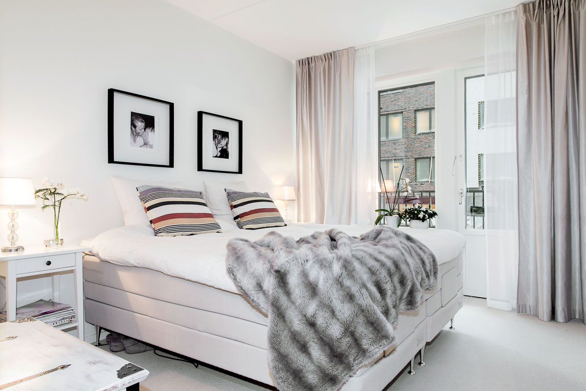 Jak połączyć styl nowoczesny, skandynawski i klasyczny w mieszkaniu w odcieniach bieli i szarości