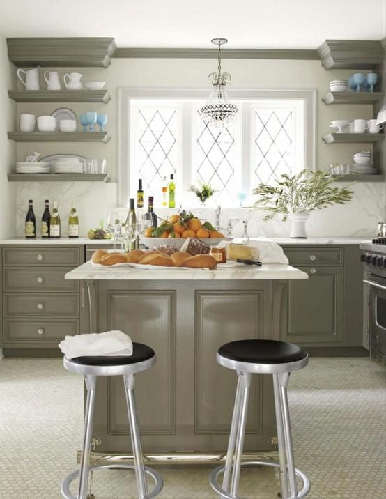 Jak urządzić kuchnię w szarym kolorze  pomysły, zdjęcia i inspiracje -> Szara Kuchnia Jaka Podloga