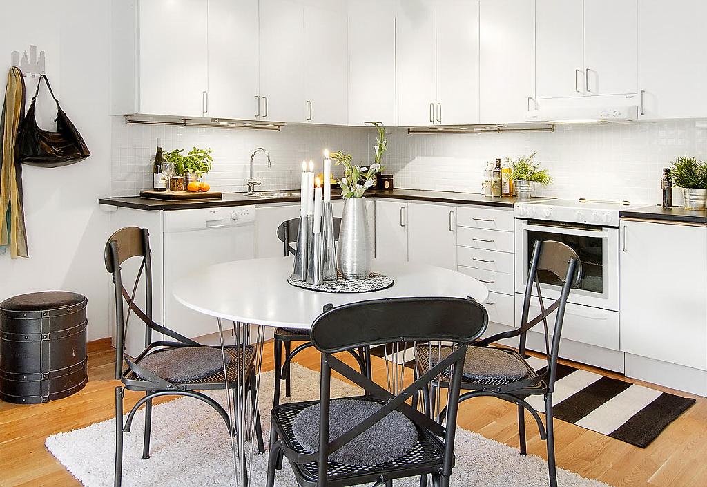 Jaki Stół Wybrać Do Białej Kuchniskandynawska Zdjęcie W