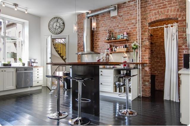 Szafki kuchenne czy otwarte półki w kuchni  co wybrać? -> Kuchnia Cegla Okap